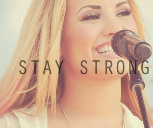 blonde, stay strong, and demi lovato image