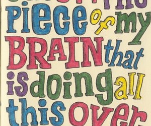 quote, brain, and text image