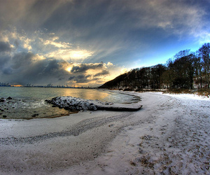 beach, snow, and snowy image
