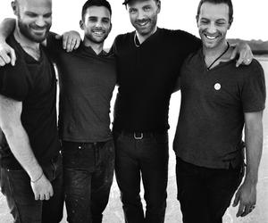 black and white, coldplay, and friends image