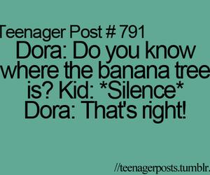 teenager post, Dora, and lol image
