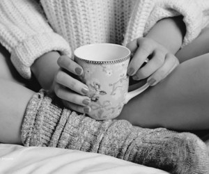 and, cup, and bed image