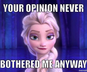frozen, elsa, and opinion image