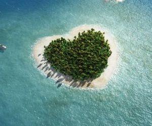 heart, Island, and ocean image