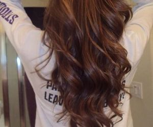 hair, curls, and brown image