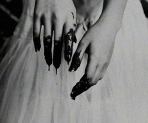 black, drees, and blood image