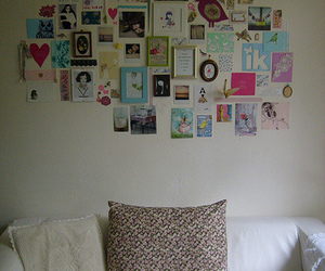 Collage, inspiration wall, and wall collage image