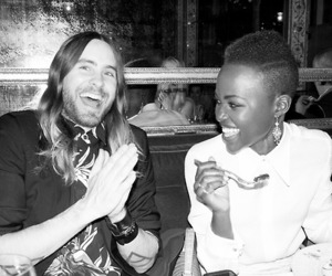 jared leto and lupita nyong'o image