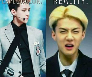 sehun exo, expectation reality, and snsd shinee image