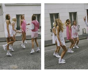models, pink, and blonde image