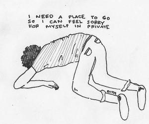 sad, quote, and alone image