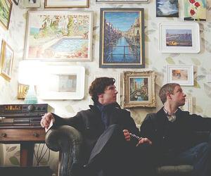 sherlock, john watson, and sherlock holmes image