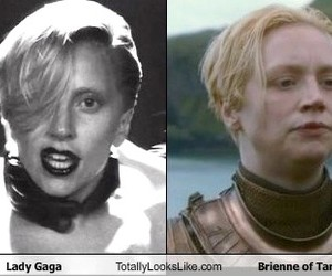 Lady gaga, game of thrones, and brienne image