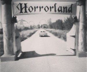 fuck off, holly crap, and horrorland image
