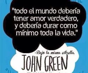 bajo la misma estrella, john green, and book image