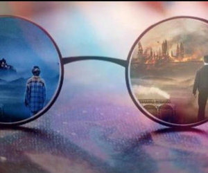 harry potter, glasses, and hogwarts image