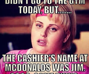 gym, funny, and fat amy image