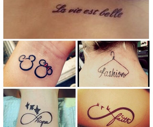 girly, tattos, and cute image