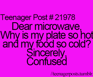 teenager post, Microwave, and quote image