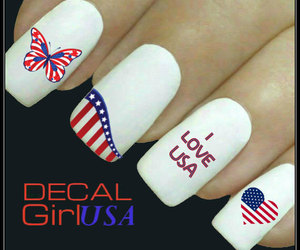 nail designs, nail art decals, and manicure image