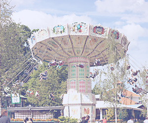 roundabout, summer, and swing image