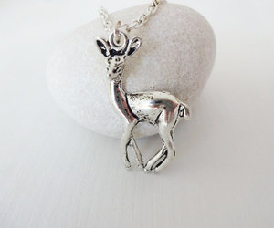 fawn, long necklace, and silver image