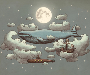 imagination, ocean, and whale image