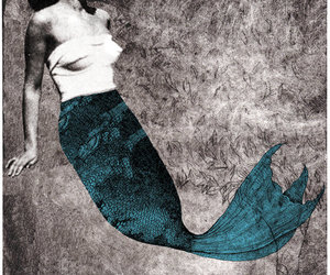 art, Collage, and mermaid image