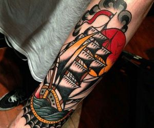 oldschool, ship, and tattoo image
