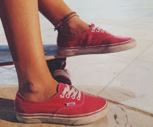 vans, girl, and skate image
