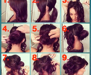 coiffure, tutorial, and loveli image