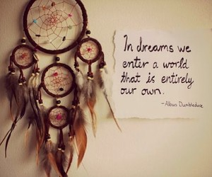Dream, quote, and dreamcatcher image