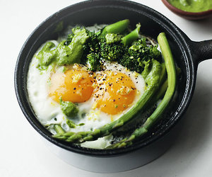 food, healthy, and eggs image