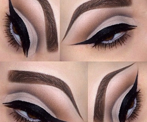 eyes, makeup, and winged eyeliner image