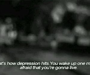 depression, sad, and quote image