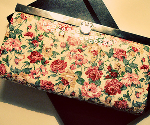 fashion, floral, and purse image