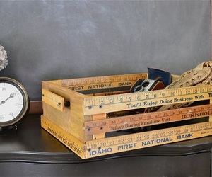 wooden crate, kid playing box, and repurposed table design image