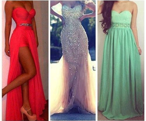 dress, clothes, and Prom image
