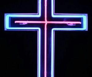 cross and neon image