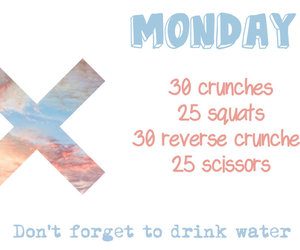 workout, fitness, and monday image