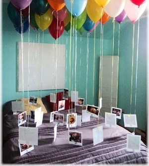 balloons, photo, and surprise image