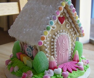 house, cake, and sweet image