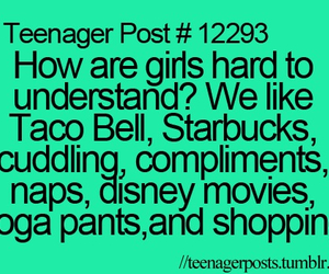 girl, starbucks, and taco bell image