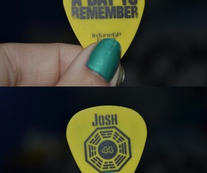 photography, guitar pick, and a day to remember image