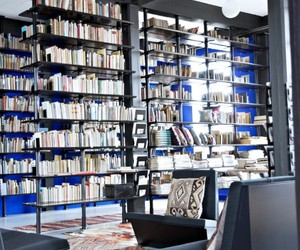 books, library, and interior image