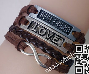 best friend, fashion jewelry, and infinity image