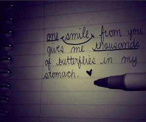 love, smile, and text image