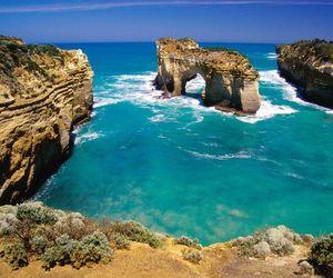 australia, rock, and sea image