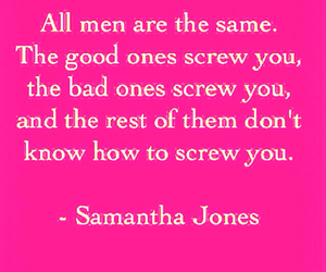 pink, quote, and samantha jones image