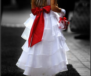 bride, red, and wedding dresses image